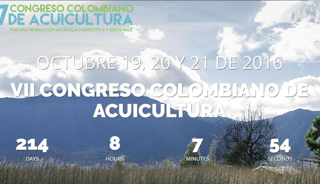 VII CONGRESO COLOMBIANO DE ACUICULTURA